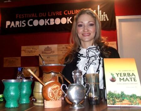 La sommelier Karla Lorenzo en los premios Gourmand en Paris