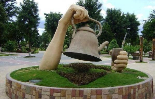 Monumento al mate en Siria