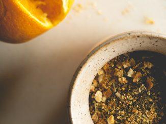 Yerba mate con cascara de naranja