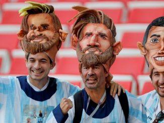 sorteo sombrero careta de Messi mas camiseta Argentina