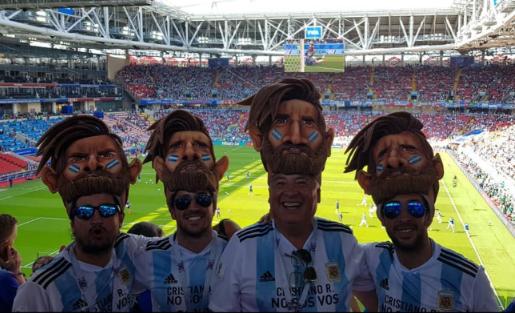 Fanáticos Argentinos en Rusia
